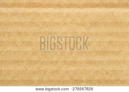 Brown Cardboard Texture Pattern Background,  Horizontal Stripes