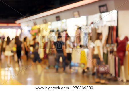 Blurred Picture Background Of Inside Shopping Mall Clothing Store Fashion Shop Department Store, Clo