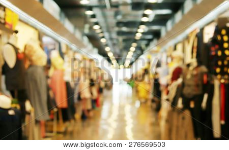 Blurred Picture Of Clothing Store Fashion Shop Inside Shopping Mall, Department Store Background, Bl