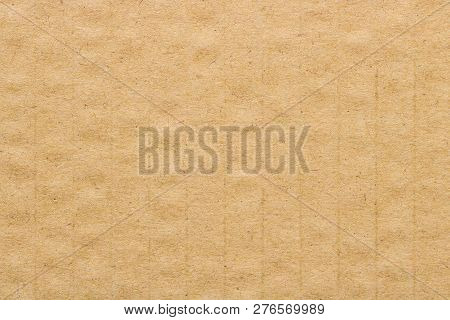 Brown Cardboard Pattern Texture, Paper Box Background.