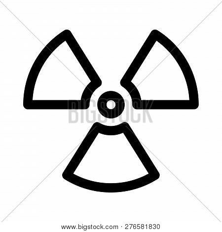 Radioactive Material Sign. Symbol Of Radiation Alert, Hazard Or Risk. Simple Flat Vector Illustratio