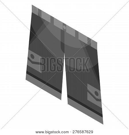 Black Shorts Icon. Isometric Of Black Shorts Icon For Web Design Isolated On White Background