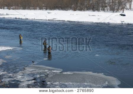 Fishermen On River.