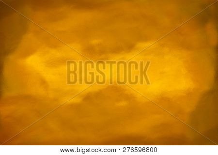 Golden Wall, Cement, Uneven Surface, Used For Background