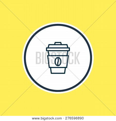 Vector Illustration Of Coffee Icon Line. Beautiful Lifestyle Element Also Can Be Used As Decaf Icon