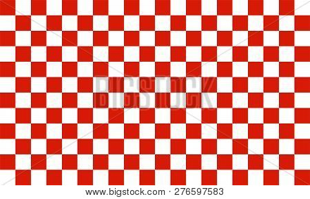 Red And White Colored Checkered Background Texture
