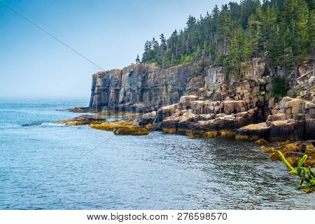 Scenic View Of The Awe Inspiring Natural Rock Formation In Acadia National Park