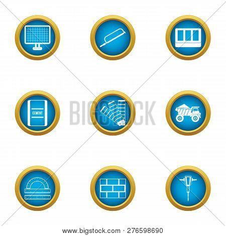 Elaboration Icons Set. Flat Set Of 9 Elaboration Icons For Web Isolated On White Background
