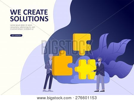 Set Landing page template people business app, marcet research, merger, focus group research and earnings growth, start up and solution. Vector illustration concept website mobile development poster
