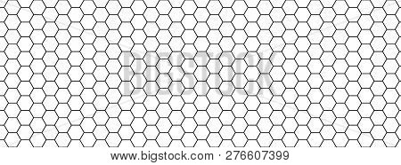 Seamless Black And White Honeycomb Texture Background