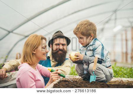 Future Farmer. Family Care About Future Farmer. Future Farmer Child With Parents. Future Farmer Conc