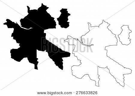 Zilina City (slovakia, Slovak Republic City) Map Vector Illustration, Scribble Sketch City Of Zilina
