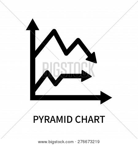 Pyramid Chart Icon Isolated On White Background. Pyramid Chart Icon Simple Sign. Pyramid Chart Icon