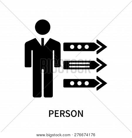 Person Icon Isolated On White Background. Person Icon Simple Sign. Person Icon Trendy And Modern Sym
