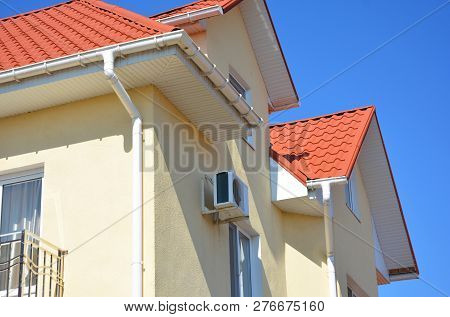 Roof Problem Areas For Rain Gutter Waterproofing Outdoor. Home Guttering, Roof Gutters, Plastic Gutt