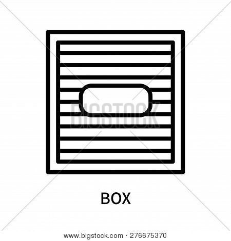 Box Icon Isolated On White Background. Box Icon Simple Sign. Box Icon Trendy And Modern Symbol For G