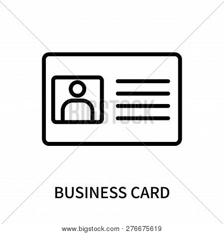 Business Card Icon Isolated On White Background. Business Card Icon Simple Sign. Business Card Icon