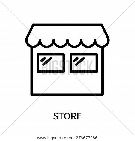 Store Icon Isolated On White Background. Store Icon Simple Sign. Store Icon Trendy And Modern Symbol