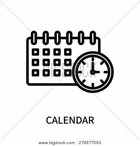 Calendar Icon Isolated On White Background. Calendar Icon Simple Sign. Calendar Icon Trendy And Mode