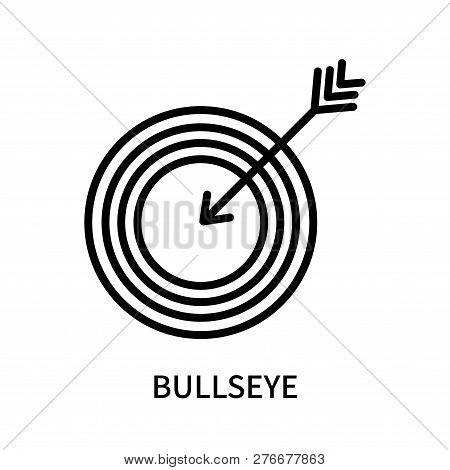 Bullseye Icon Isolated On White Background. Bullseye Icon Simple Sign. Bullseye Icon Trendy And Mode