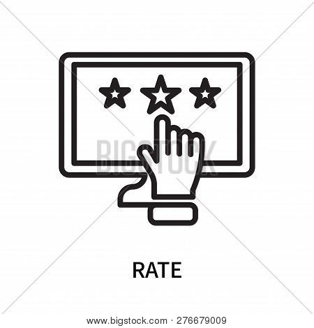 Rate Icon Isolated On White Background. Rate Icon Simple Sign. Rate Icon Trendy And Modern Symbol Fo