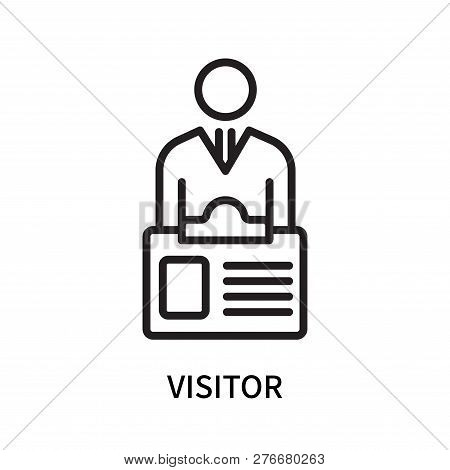 Visitor Icon Isolated On White Background. Visitor Icon Simple Sign. Visitor Icon Trendy And Modern