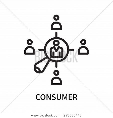 Consumer Icon Isolated On White Background. Consumer Icon Simple Sign. Consumer Icon Trendy And Mode