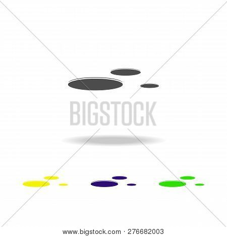 Flying Saucers Multicolored Icons. Element Of Ufo Icon Can Be Used For Web, Logo, Mobile App, Ui, Ux