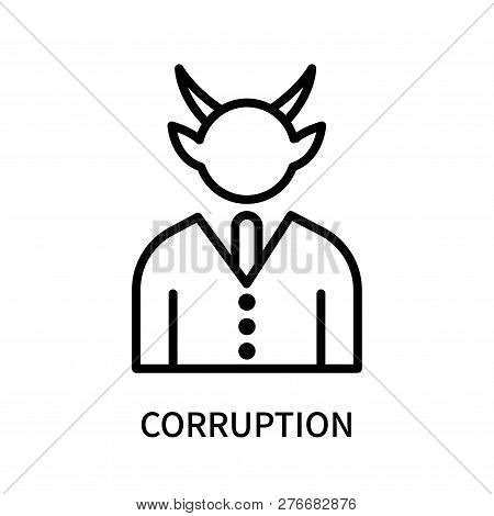 Corruption Icon Isolated On White Background. Corruption Icon Simple Sign. Corruption Icon Trendy An