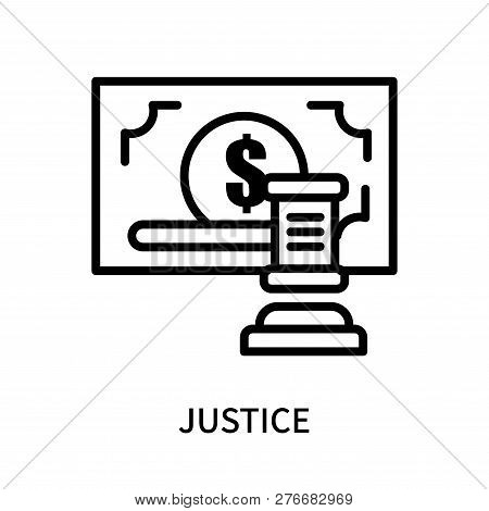 Justice Icon Isolated On White Background. Justice Icon Simple Sign. Justice Icon Trendy And Modern
