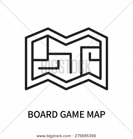 Board Game Map Icon Isolated On White Background. Board Game Map Icon Simple Sign. Board Game Map Ic