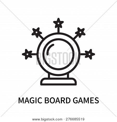 Magic Board Games Icon Isolated On White Background. Magic Board Games Icon Simple Sign. Magic Board