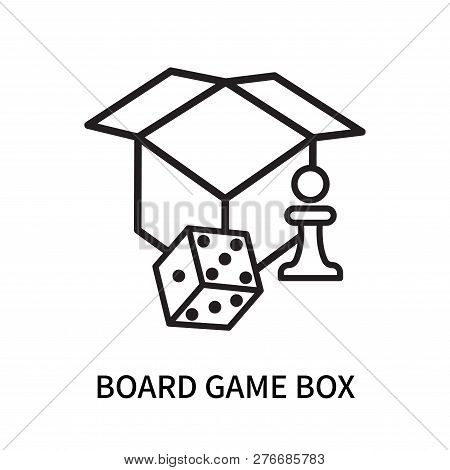 Board Game Box Icon Isolated On White Background. Board Game Box Icon Simple Sign. Board Game Box Ic