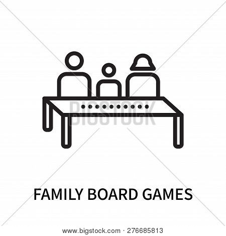Family Board Games Icon Isolated On White Background. Family Board Games Icon Simple Sign. Family Bo
