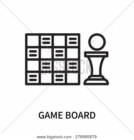 Game Board Icon Isolated On White Background. Game Board Icon Simple Sign. Game Board Icon Trendy An