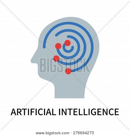 Artificial Intelligence Icon Isolated On White Background. Artificial Intelligence Icon Simple Sign.