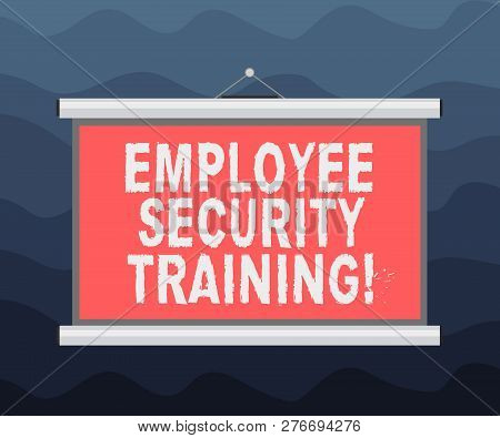 Writing Note Showing Employee Security Training. Business Photo Showcasing Educating Employees About