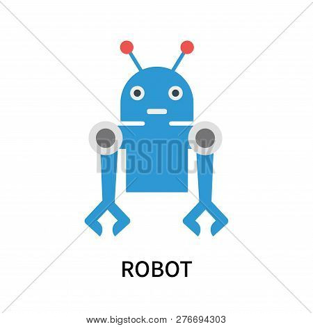 Robot Icon Isolated On White Background. Robot Icon Simple Sign. Robot Icon Trendy And Modern Symbol