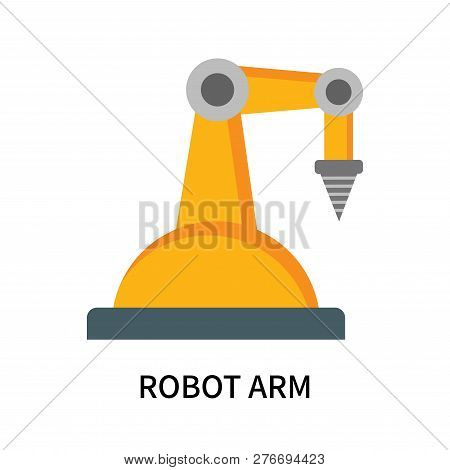 Robot Arm Icon Isolated On White Background. Robot Arm Icon Simple Sign. Robot Arm Icon Trendy And M
