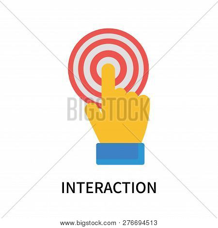 Interaction Icon Isolated On White Background. Interaction Icon Simple Sign. Interaction Icon Trendy