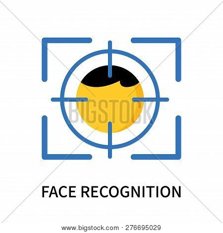 Face Recognition Icon Isolated On White Background. Face Recognition Icon Simple Sign. Face Recognit