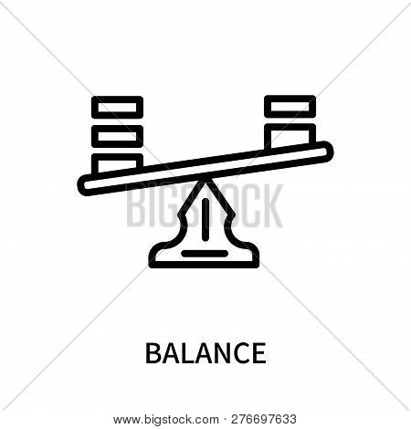 Balance Icon Isolated On White Background. Balance Icon Simple Sign. Balance Icon Trendy And Modern