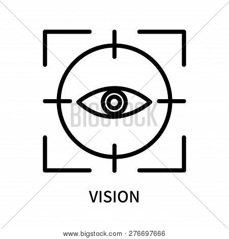 Vision Icon Isolated On White Background. Vision Icon Simple Sign. Vision Icon Trendy And Modern Sym