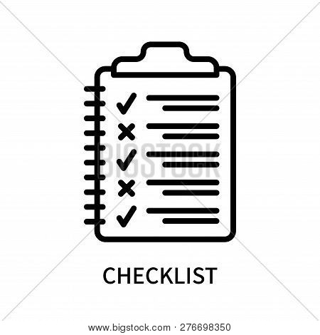 Checklist Icon Isolated On White Background. Checklist Icon Simple Sign. Checklist Icon Trendy And M