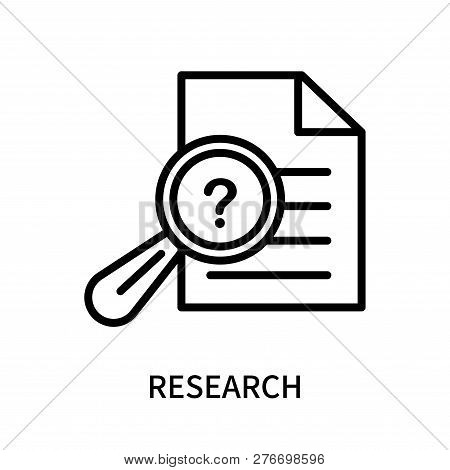 Research Icon Isolated On White Background. Research Icon Simple Sign. Research Icon Trendy And Mode