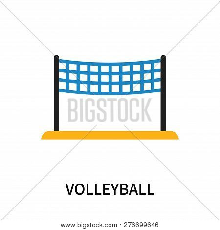Volleyball Icon Isolated On White Background. Volleyball Icon Simple Sign. Volleyball Icon Trendy An