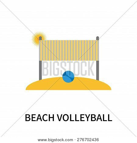 Beach Volleyball Icon Isolated On White Background. Beach Volleyball Icon Simple Sign. Beach Volleyb