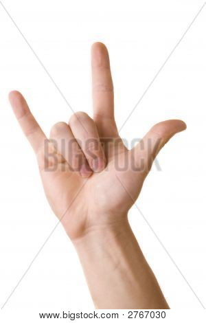 Hand Sign And Oldies Rock And Roll