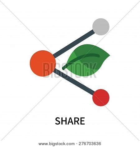 Share Icon Isolated On White Background. Share Icon Simple Sign. Share Icon Trendy And Modern Symbol