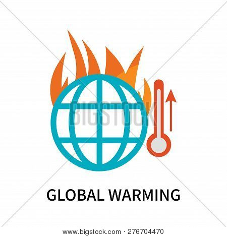 Global Warming Icon Isolated On White Background. Global Warming Icon Simple Sign. Global Warming Ic